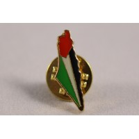PALESTINE MAP PIN BADGE FLAG COLOUR