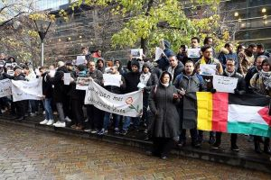 Palestinian Refugees Rally in Brussels to Demand Humanitarian Asylum