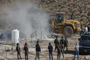 Israeli Forces Destroy Palestinian Structures in AlKhalil