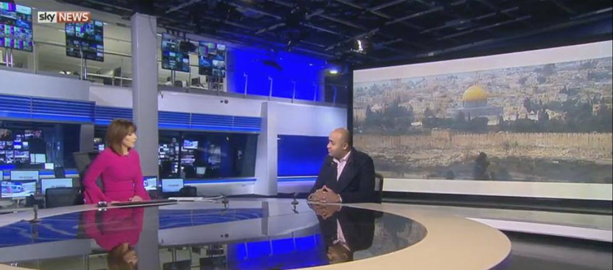 PRC on Sky News: Moving the US Embassy to Jerusalem Would Cause a Blood Shed